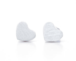 Tiny Gold Heart Shaped Earring Studs
