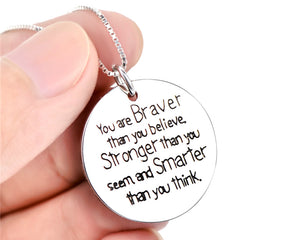 You Are Brave Necklace
