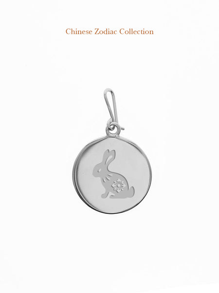 CHINESE ZODIAC Hook Charm 925 Sterling Silver