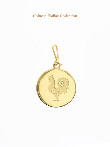 CHINESE ZODIAC Hook Charm 16.8k Yellow Gold Dip