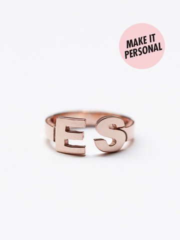 Personalized ALEXA's Initials Ring