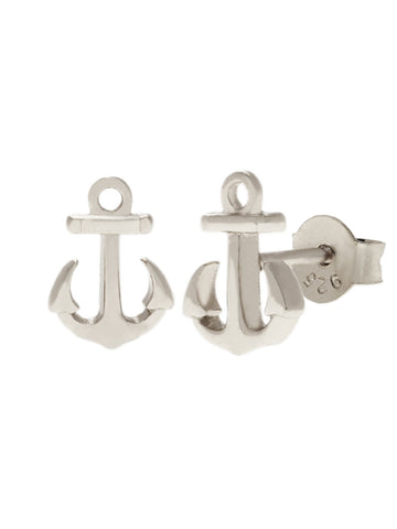 ANCHOR Ear Studs 925 Sterling Silver