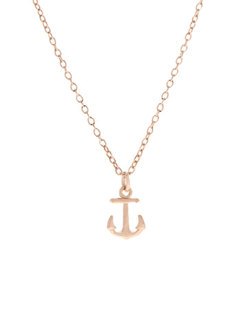 ANCHOR Necklace 14k Rose Gold Dip