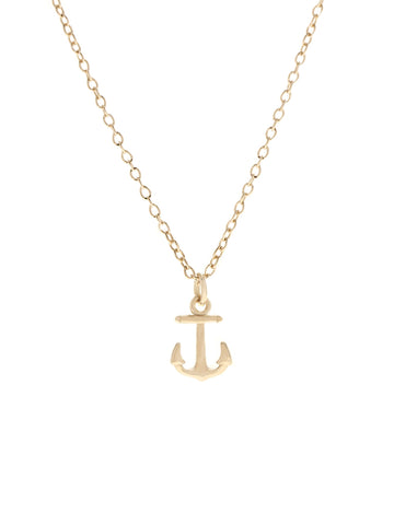 ANCHOR Necklace 16.8k Yellow Gold Dip
