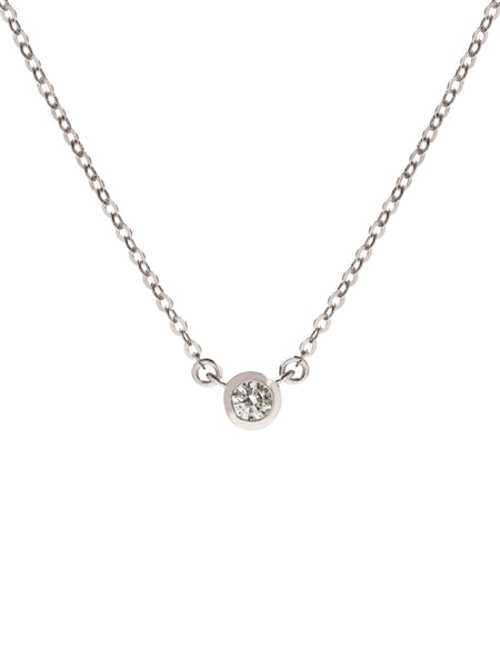 AYLA MOONLIGHT Zirconia Necklace 925 Sterling Silver