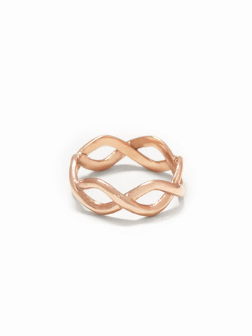 BRAIDED Ring 14k Rose Gold Dip