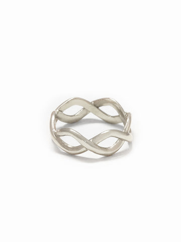 BRAIDED Ring 925 Sterling Silver