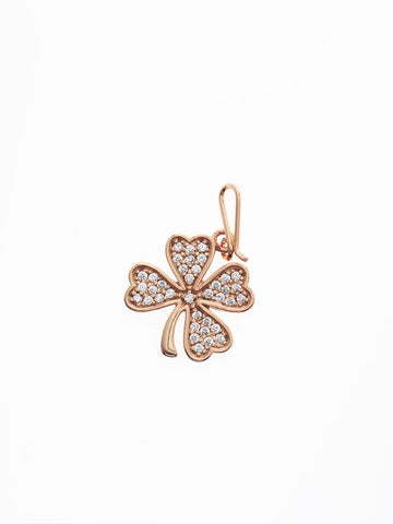 CLOVER Hook Charm 14k Rose Gold Dip