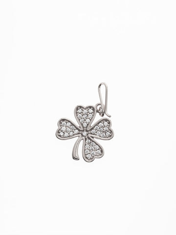 CLOVER Hook Charm 925 Sterling Silver