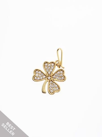 CLOVER Hook Charm 16.8k Yellow Gold Dip