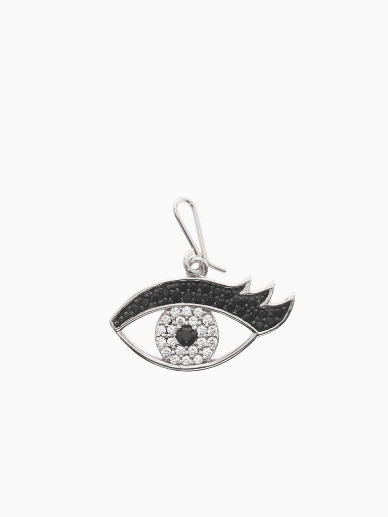 EYE LOVE YOU Hook Charm 925 Sterling Silver