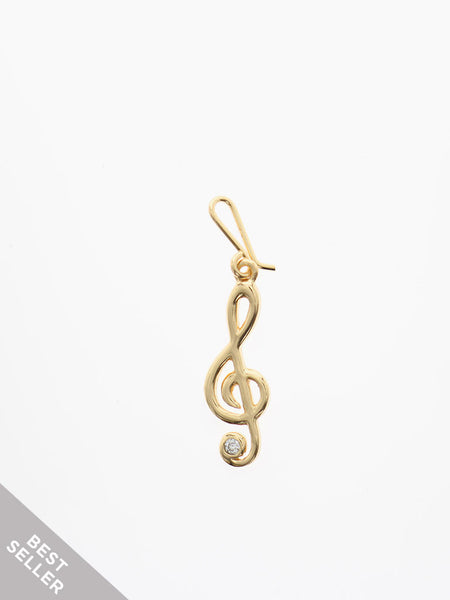 SWEET MELODY Hook Charm 16.8k Yellow Gold Dip