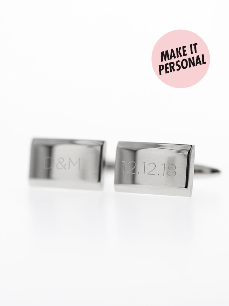 Engravable THEODORE's Rectangle Cufflinks 316L Stainless Steel