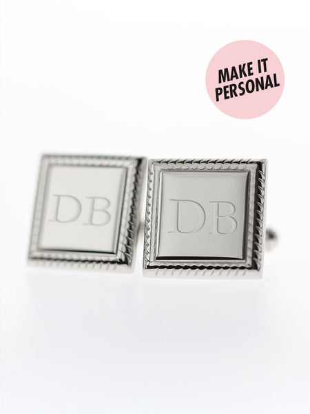 Engravable WALTER's Square Cufflinks 316L Stainless Steel