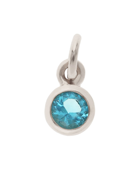 DECEMBER Birthstone Necklace 925 Sterling Silver & Gold Dip [TURQUOISE]