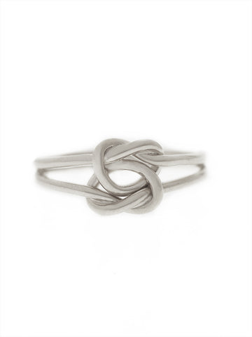 DOUBLE KNOTTED HEART Ring 925 Sterling Silver