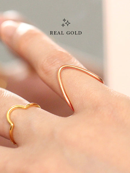 [REAL GOLD] BALANCE Ring 18k Rose Gold