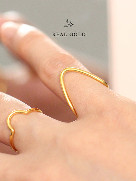 [REAL GOLD] BALANCE Ring 16.8k Yellow Gold