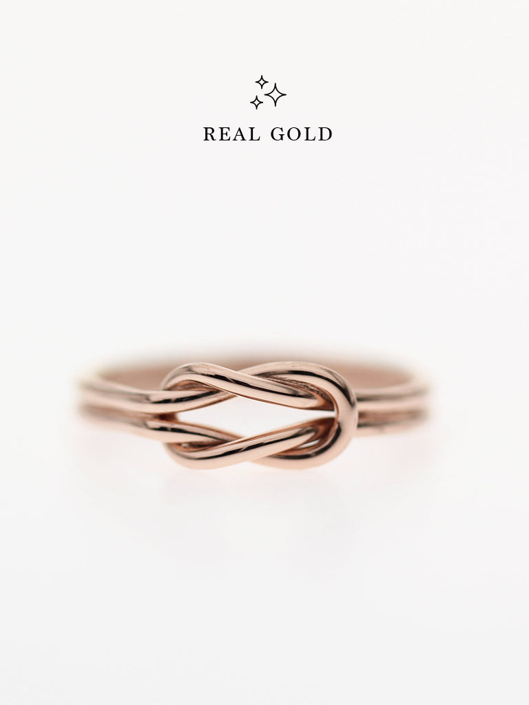 [REAL GOLD] Knotted For Eternity Ring 18k Rose Gold