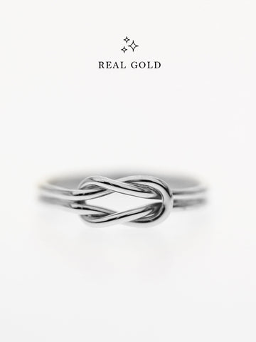[REAL GOLD] Knotted For Eternity Ring 18k White Gold