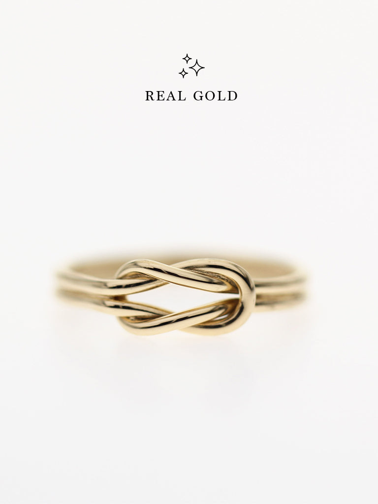 [REAL GOLD] Knotted For Eternity Ring 16.8k Yellow Gold