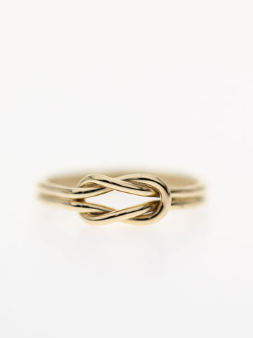 KNOTTED FOR ETERNITY Ring 16.8k Yellow Gold Dip