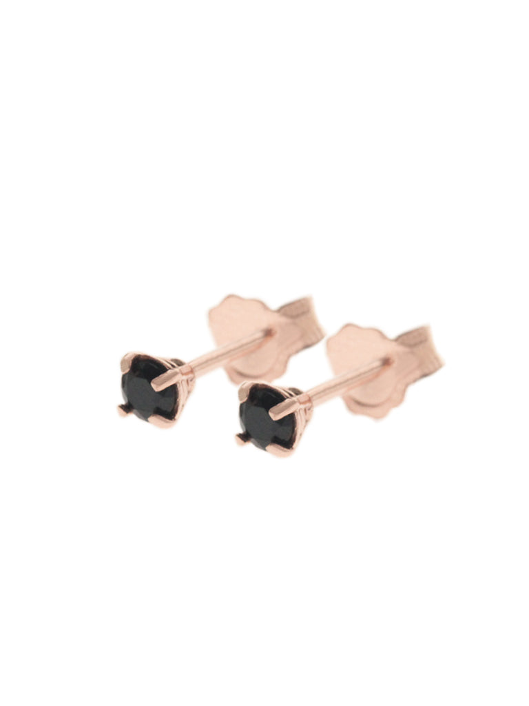 MALEFICENT Ear Studs 14k Rose Gold Dip