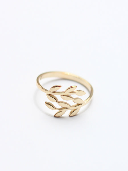FOLIAGE Ring 925 Sterling Silver & Gold Dip