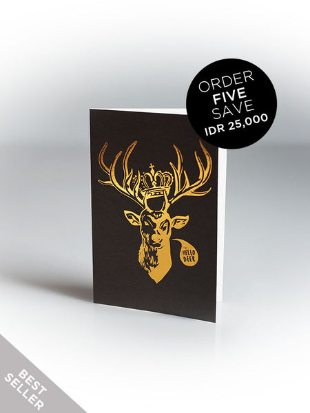 HELLO DEER Greeting Card