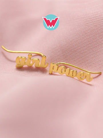 [WOMANDIRI] GIRL POWER Ear Climbers 16.8k Yellow Gold Dip
