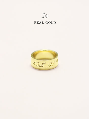 [REAL GOLD] Engravable GLADYS' Classic Ring 16.8k Yellow Gold