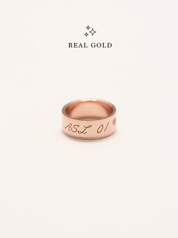[REAL GOLD] Engravable GLADYS' Classic Ring 18k Rose Gold