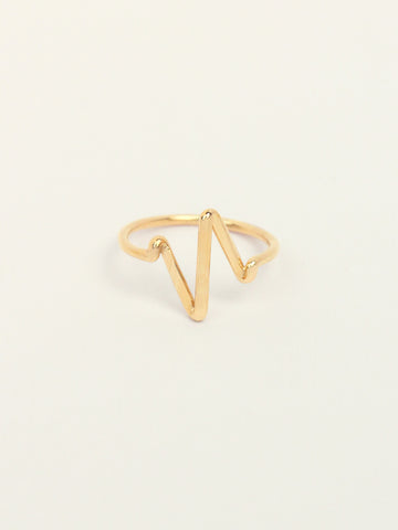 HEARTBEAT Ring 16.8k Yellow Gold Dip