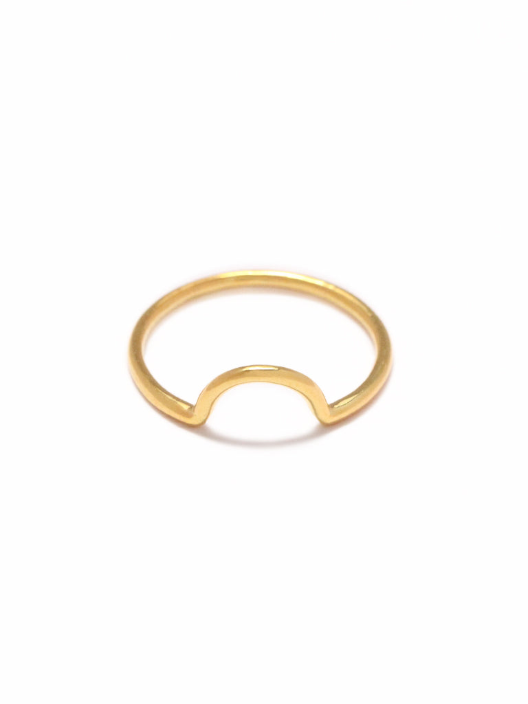 LUNETTE Ring 16.8k Yellow Gold Dip