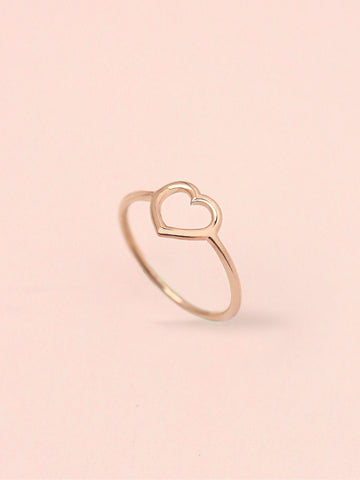 [PRE-ORDER] LOVE STRUCK HEART Ring 14k Rose Gold Dip