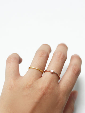 CLASSIC STACKER Ring 925 Sterling Silver & Gold Dip