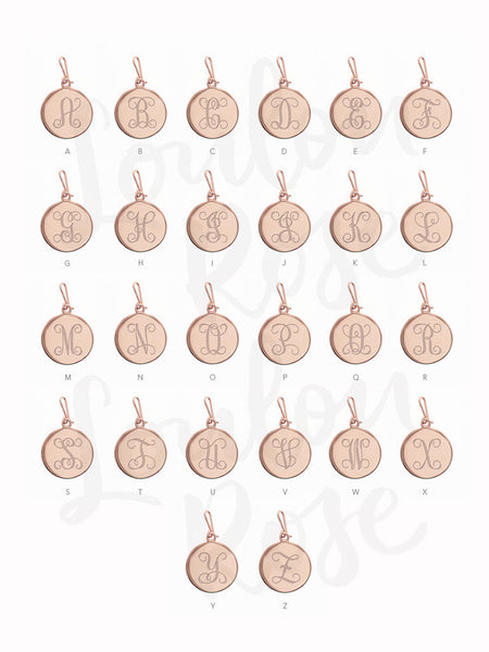 INITIAL Hook Charm 14k Rose Gold Dip