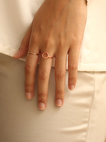 KARMA Full Circle Ring 14k Rose Gold Dip