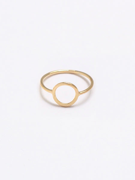 KARMA Full Circle Ring 16.8k Yellow Gold Dip