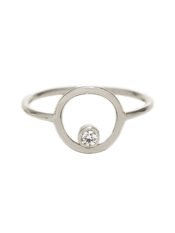 ECLIPSE Zirconia Ring 925 Sterling Silver