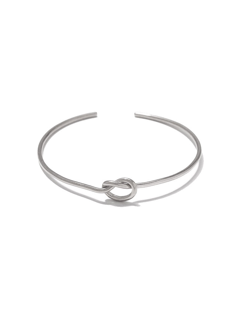 KNOTTED HEART Cuff 925 Sterling Silver
