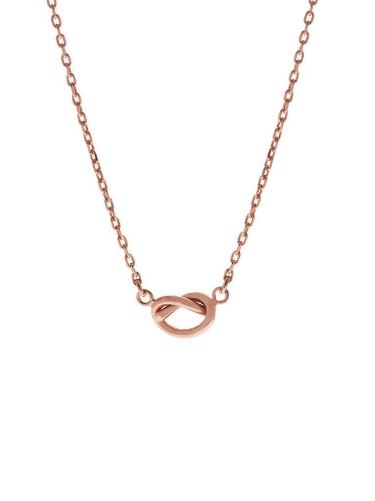 KNOTTED HEART Necklace 14k Rose Gold Dip