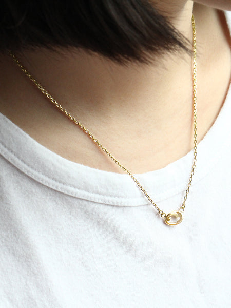 KNOTTED HEART Necklace 16.8k Yellow Gold Dip