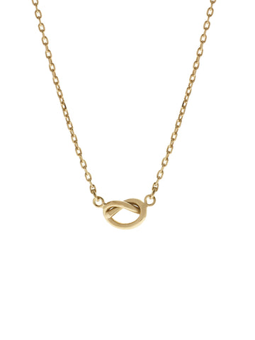 7af6afb4dd096 KNOTTED HEART Necklace 16.8k Yellow Gold Dip ...