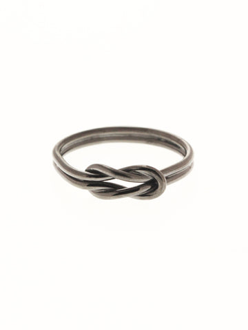 KNOTTED FOR ETERNITY Ring Black Ruthenium Plating