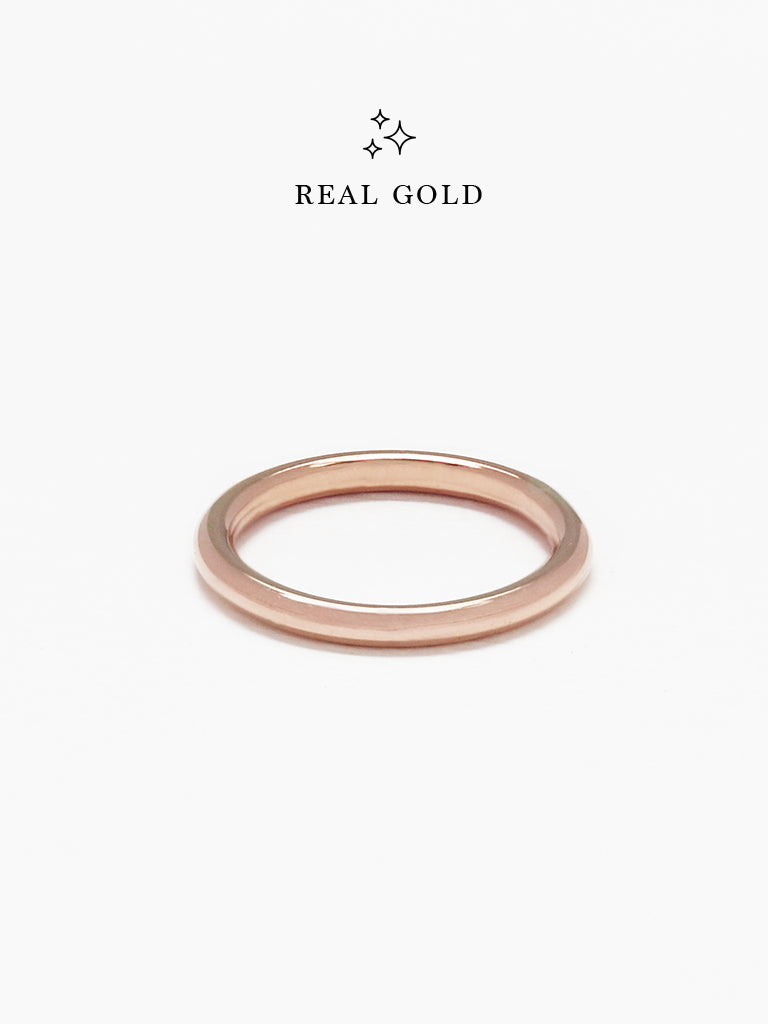[REAL GOLD] BOLD STACKER Ring 18k Rose Gold