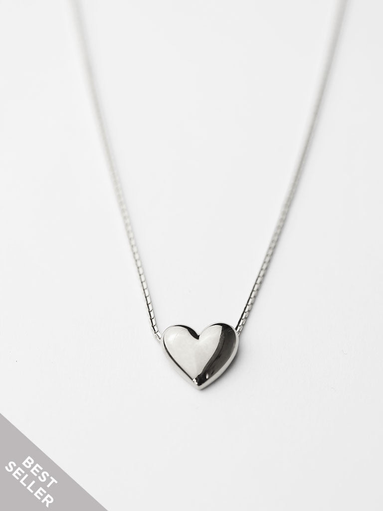 TINY HEART Necklace 925 Sterling Silver [ENGRAVABLE]