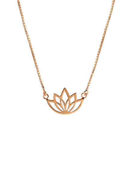 LOTUS Necklace 14k Rose Gold Dip