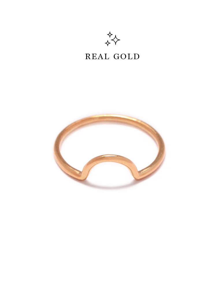 [REAL GOLD] LUNETTE Ring 18k Rose Gold