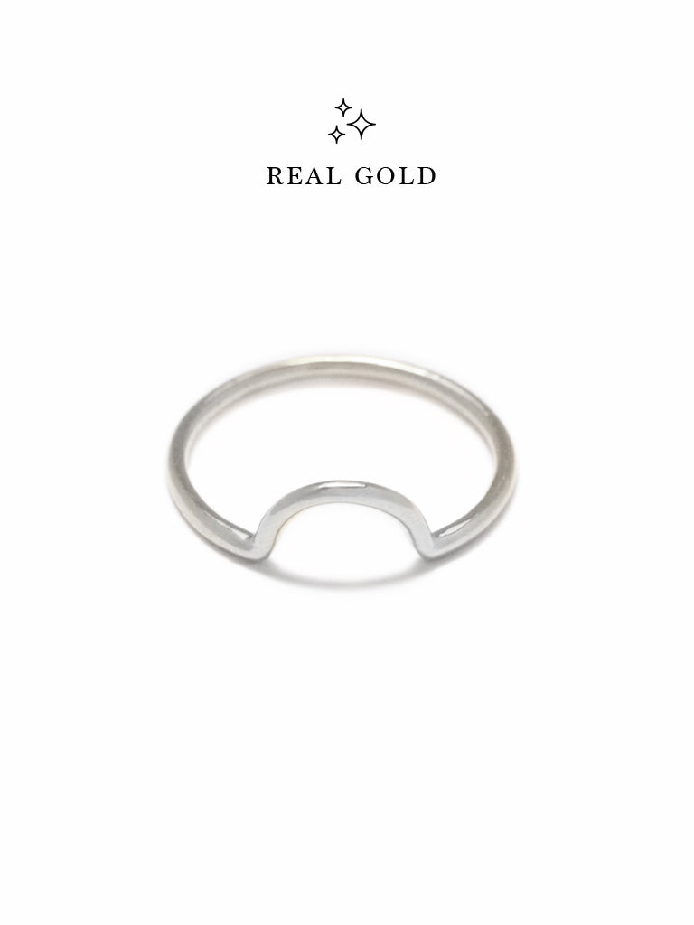 [REAL GOLD] LUNETTE Ring 18k White Gold